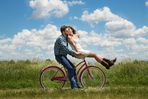 depression counseling healing leading to happy couple on bike