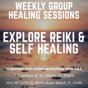 weekly reiki and self healing sessions